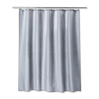 "72""X72"" Solid Shower Curtain Gray Mist - Room Essentials™"