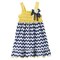 Sophie Rose Chevron Bow Sundress - Baby Girl, Size: