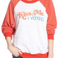 Wildfox 'Kiss Me I Voted' Pullover | Nordstrom