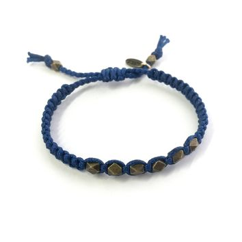 Sailor's Delight Bracelet in Blue and Brass