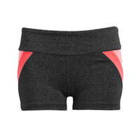 Heathered Colorblocked Yoga Shorts