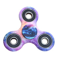 Universe Stars Printed Tri Finger Spinner Fidget Toy EDC Hand Spinner Anti Stress Anxiety Reliever And ADAD Hand Spinners