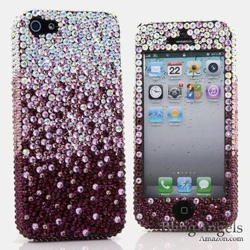 iPhone 6S PLUS Bling Case, iPhone 6 PLUS Case - LUXADDICTION® [Premium Quality] Handmade Crystallized Bling Case Swarovski Crystals Diamond Sparkle Royal Gold Design Cover