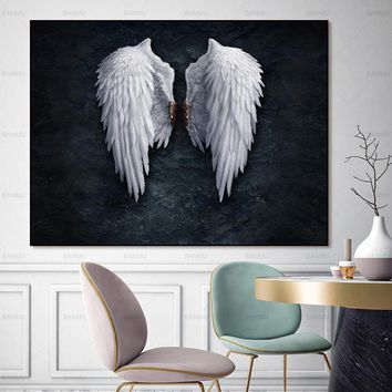 Wall art canvas painting Wing posters and prints the powerful wing home decoration painting art print on canvas No Frame
