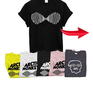 Arctic monkeys AM Soundwave t shirt Music band printed T-shirts Death Ramps T-Shirt Alex turner Unisex t shirt