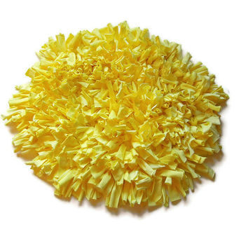 Yellow Rug, Round Rug, Shag Tshirt rug, Shag rag rug, customizable