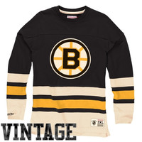 Mitchell & Ness Boston Bruins Vintage Line Change Long Sleeve T-Shirt - Black