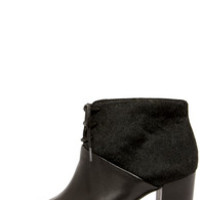 Seychelles Nonchalant Black Leather Pony Hair Booties