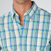 Southern Tide, Palm Beach Plaid Sport Shirt