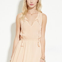 Self-Tie Eyelet Dress