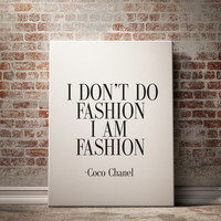 COCO CHANEL POSTER Inspirational Print Coco Chanel Poster Coco Chanel Quote Typography Quote Home Decor Motivational Poster Coco Chanel