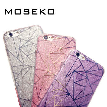 MOSEKO New Fashion Glitter Powder Case For iPhone 7 7Plus Bling Sparkling Luxury Silicone Soft Case Cover For iphone7 Plus