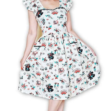 Loretta Atomic Print Dress