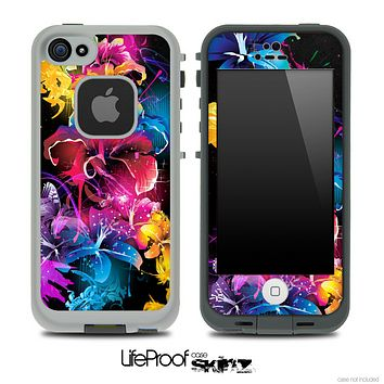 Bright Neon Floral Skin for the iPhone 5 or 4/4s LifeProof Case
