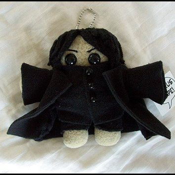 Severus Snape Plush Doll with attached keychain by quacked on Etsy