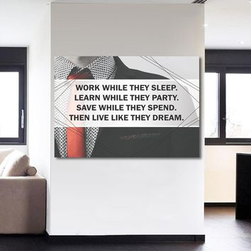 1 Piece Canvas Art Inspirational Quote Wall Picture Canvas Print for Living Room