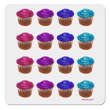 "Colorful Cupcake Pattern 4x4"" Square Sticker by TooLoud"