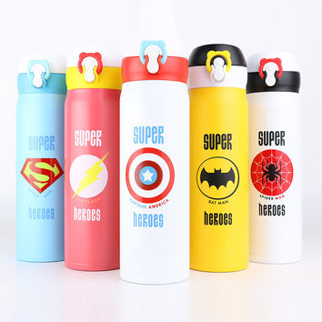2016 Stainless Steel Water Bottle Insulated Tumbler Cartoon Vacuum Thermos Cup For Kids