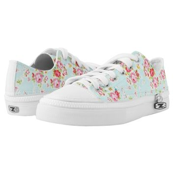 Vintage roses floral shabby rose flowers chic printed shoes