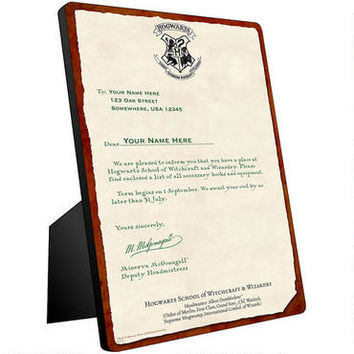 Personalized Hogwarts Acceptance Letter Chromaluxe Panel |