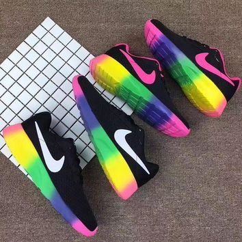 NIKE Trending Fashion Casual Sports Running Shoes Rainbow Color Soles