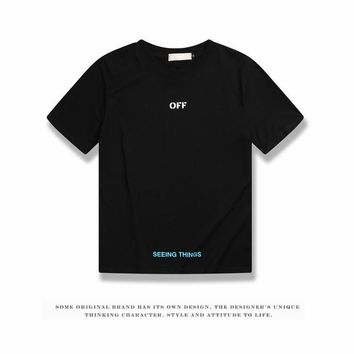 Cheap Women's and men's OFF-WHITE t shirt for sale 85902898_0205