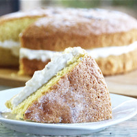 » Lemon and Lavender Chiffon Cake with Honey Lavender Cream Beth Michelle