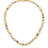 Marco Bicego - Jaipur Semi-Precious Multi-Stone & 18K Yellow Gold Strand Necklace - Saks Fifth Avenue Mobile