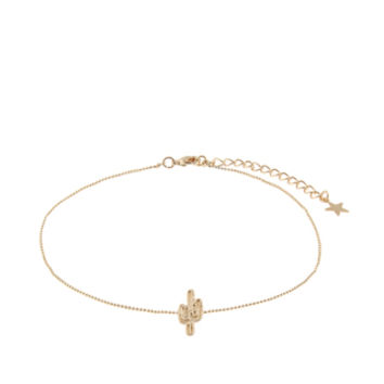 Accessorize | Cactus Choker Necklace | Gold | One Size
