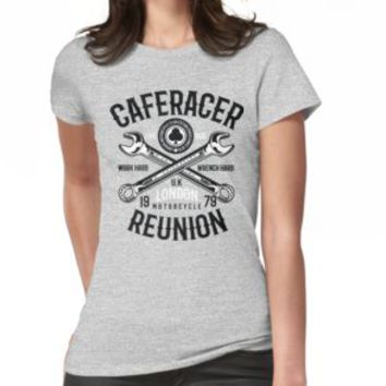 'CAFERACER MOTORCYCLE' T-Shirt by Super3