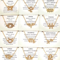 Zodiac Bracelet Gold (All Zodiac Signs Available)