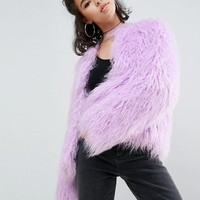ASOS Mongolian Faux Fur Jacket at asos.com