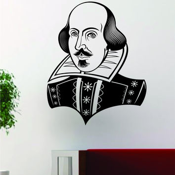 William Shakespeare Poet Design Decal Sticker Wall Vinyl Decor Art