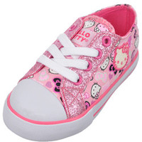 Hello Kitty Girls -Cat Bows Low-Top Sneakers (Toddler Sizes 5 - 10)-hek02500