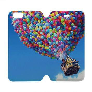 UP BALOON HOUSE Disney Wallet Case for iPhone 4/4S 5/5S/SE 5C 6/6S Plus Samsung Galaxy S4 S5 S6 Edge Note 3 4 5