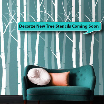 Beautiful large Wall Tree Stencil