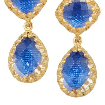 Larkspur & Hawk - Jane gold-dipped topaz earrings