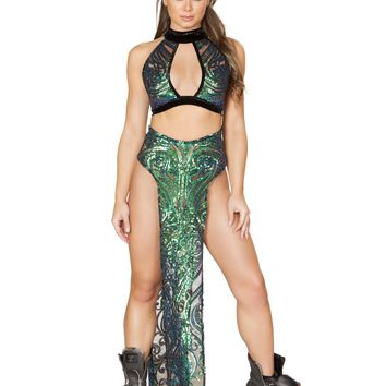 Roma Rave 3597 - 1pc Sequin Skirt with Double Panel
