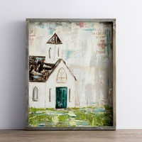 In Christ Alone - Framed Canvas