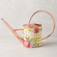 Picnicking Watering Can by Anthropologie in Yellow Gingham Size: One Size Garden