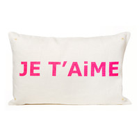 Estella Je T'Aime Decorative Pillow - I Love You Pillow - ShopBAZAAR