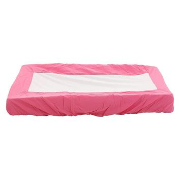 Pink change pad cover