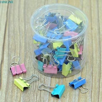 60x Colorful Metal Paper File Ticket Binder Clips 15mm Office School Supply Clip Levert Dropship 3mar13