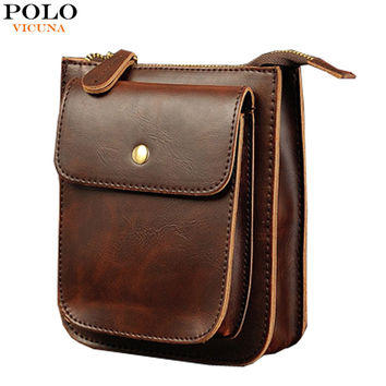 Vintage Style Small Men Messenger Bag Man Motorcycle Bags With Flap Silt Pocket Fashion Flap Bag Waist Pack