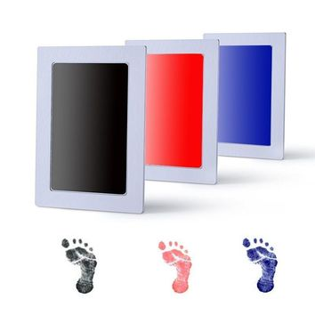 Baby Handprint and Footprint with Pollutant Free Ink - Baby Skin Does Not Come In Contact with Color, the Ideal Baby Deco and Best Baby Shower Gift