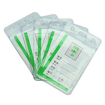 5 waterproof Clear PVC Badge Working Exhibition ID Name Card Holders