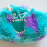 Monsters University Sulley and Squishy Multi Purpose Reversible Plush Pouch
