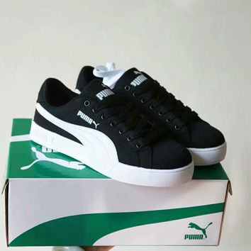 puma unisex casual fashion multicolor canvas plate shoes couple sneakers