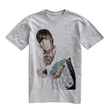 Bring Me The Horizon ,Oliver Sykes Shirt T-Shirt Unisex Gray Size S,M,L,XL