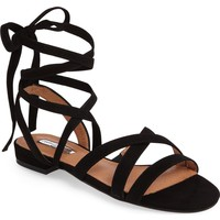 Halogen® Frances Ankle Wrap Sandal (Women) | Nordstrom